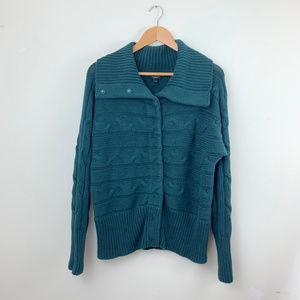 Talbots Soft Heavy Dark Green Sweater L